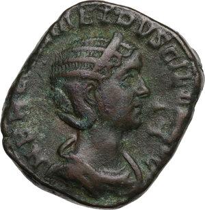 obverse: Herennia Etruscilla, wife of Trajan Decius (249-251 AD).. AE Sestertius, struck c. 251 AD