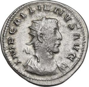 obverse: Gallienus (253-268)..  AR Antoninianus, Lugdunum mint, 257 AD