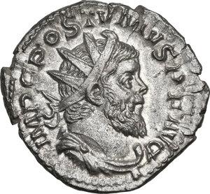 obverse: Postumus (259-268).. AR Antoninianus, Lugdunum mint, 260-269 AD