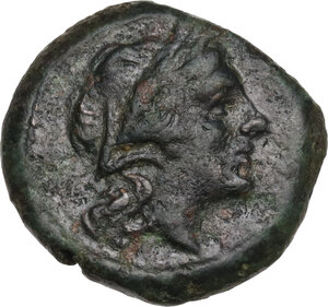 obverse: Northern Lucania, Paestum. AE Sescuncia. Second Punic War, 218-201 BC