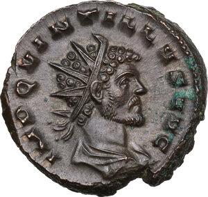 obverse: Quintillus (270 AD).. BI Antoninianus, Mediolanum mint
