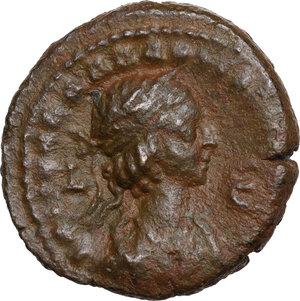 reverse: Aurelian, with Vabalathus (270-275).. BI Tetradrachm, Alexandria mint, Egypt.  Year 2 of Aurelian and 5 of Vabalathus = 271-2 AD