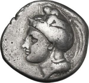 obverse: Northern Lucania, Velia. AR Didrachm, c. 334-300 BC