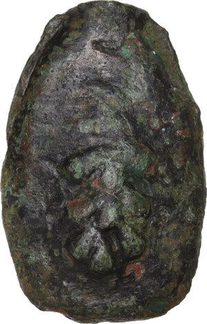 obverse: Uncertain Umbria or Etruria. AE Cast Sextans, 3rd cent. BC