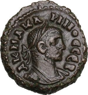 obverse: Carinus as Caesar (282-283).. BI Tetradrachm, Alexandria mint, Egypt. Dated RY 2 = 283/4 AD