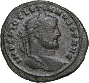 obverse: Diocletian (284-305).. AE Follis, Siscia mint