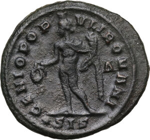 reverse: Diocletian (284-305).. AE Follis, Siscia mint