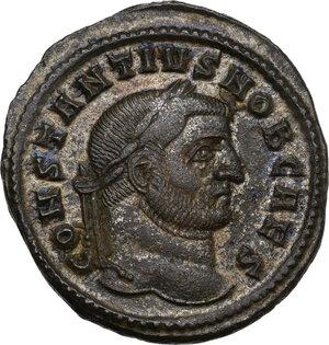 obverse: Constantius I Chlorus as Caesar (293-305).. AE Follis, Ticinum mint, 298-299 AD