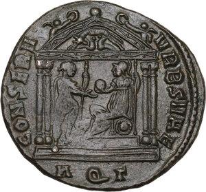 reverse: Maxentius (306-312).. AE Follis, 307 AD. Aquileia mint