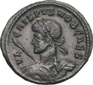 obverse: Crispus Caesar (317-326).. AE Follis, Siscia mint