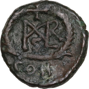 reverse: Marcian (450-457).. AE 10 mm. Constantinople mint