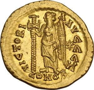 reverse: Leo I (457-474).. AV Solidus, Constantinople mint, 462 or 466 AD