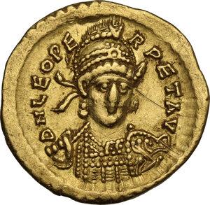 obverse: Leo I (457-474). AV Solidus, Constantinople mint, c. 465-466 AD
