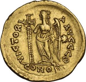 reverse: Leo I (457-474). AV Solidus, Constantinople mint, c. 465-466 AD