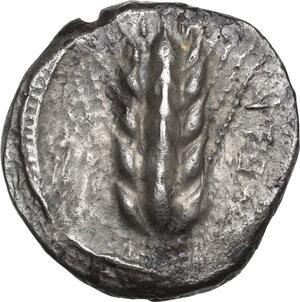 obverse: Southern Lucania, Metapontum. AR Stater, circa 470-440 BC