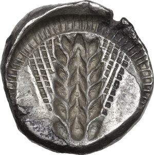 reverse: Southern Lucania, Metapontum. AR Stater, circa 470-440 BC