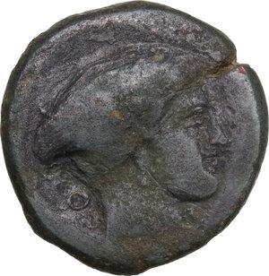 obverse: Southern Lucania, Metapontum. AE Obol, c. 400-350 BC