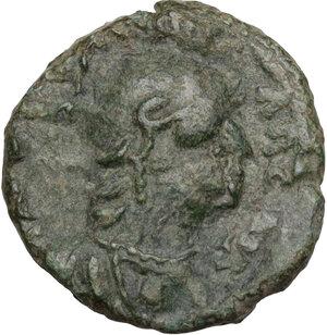 obverse: Ostrogothic Italy. Theodahad (534-536).. AE Quarter follis or Decanummium. Ravenna mint, 534-536