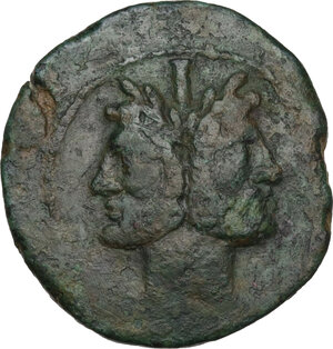 obverse: Southern Lucania, Copia. AE As, after 192 BC