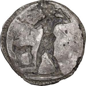 reverse: Bruttium, Kaulonia. AR Nomos, circa 525-500 BC