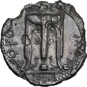 obverse: Bruttium, Kroton. AR incuse Stater, c. 530-500 BC