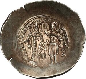 reverse: Isaac II, Angelus (1185-1195).. EL Aspron Trachy, Constantinople mint