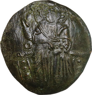 obverse: The Empire of Nicaea. John III Ducas (1221-1254).. AV (debased) Hyperpyron, Empire of Nicaea, Magnesia mint, 1232-1254