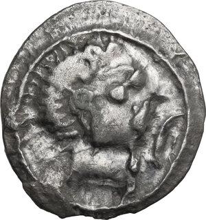 obverse: Etruria, Populonia. AR Unit, 4th century BC