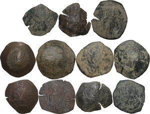 obverse: The Byzantine Empire.. Multiple lot of eleven (11) unclassified AE late coins