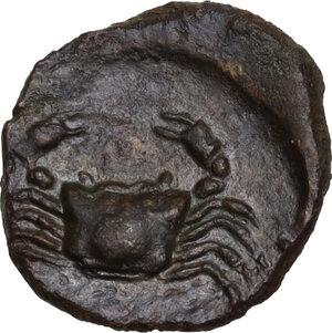 reverse: Akragas. AE 14 mm. c. 338-317 BC