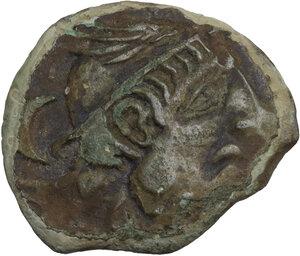 obverse: Etruria, Populonia. AE Sextans, late 3rd century BC