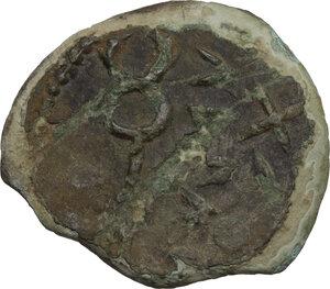 reverse: Etruria, Populonia. AE Sextans, late 3rd century BC