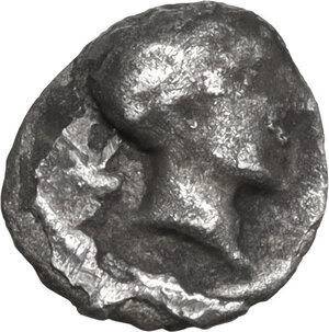 obverse: Etruria, Populonia. AR 0.5-As (Sembella), 3rd century BC