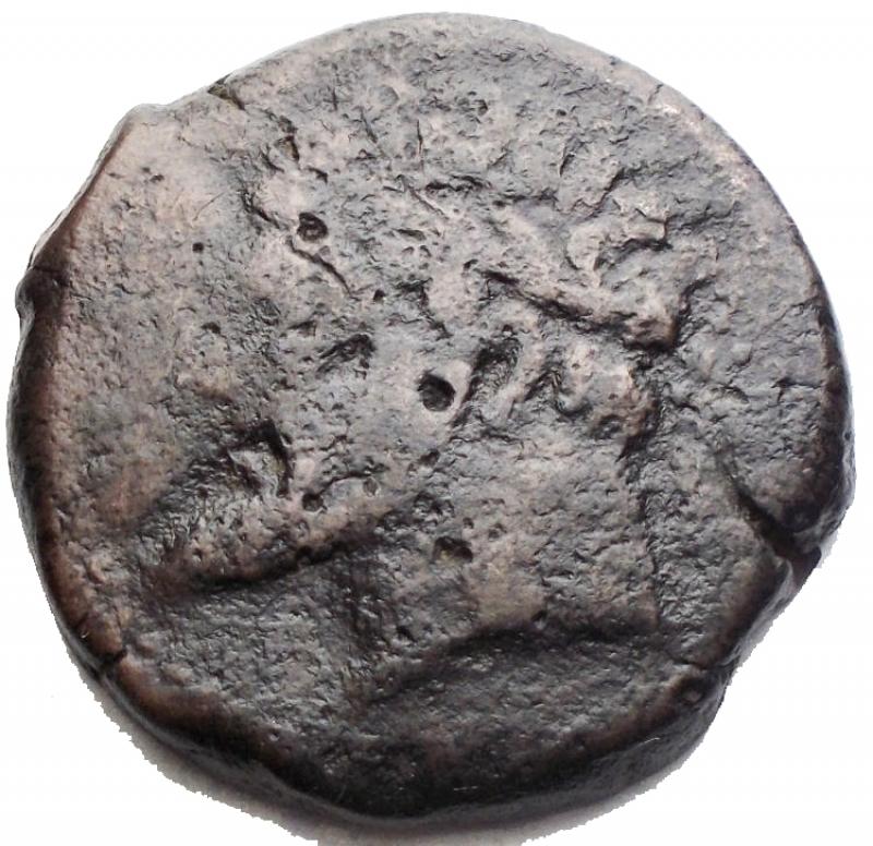 obverse: Mondo Greco - Africa. Numidia. Micipsa. 148-118 a.C. AE. D/ Testa laureata di Micipsa a sinistra. R/ Cavallo al galoppo a sinistra. Peso gr 11,8. Diametro 25,6 mm. MB-qBB.