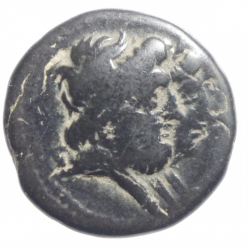 obverse: Mondo Greco.Arados. Phoenicia. 136-51 a.C.D\ Teste appaiate di Zeus e Hera o