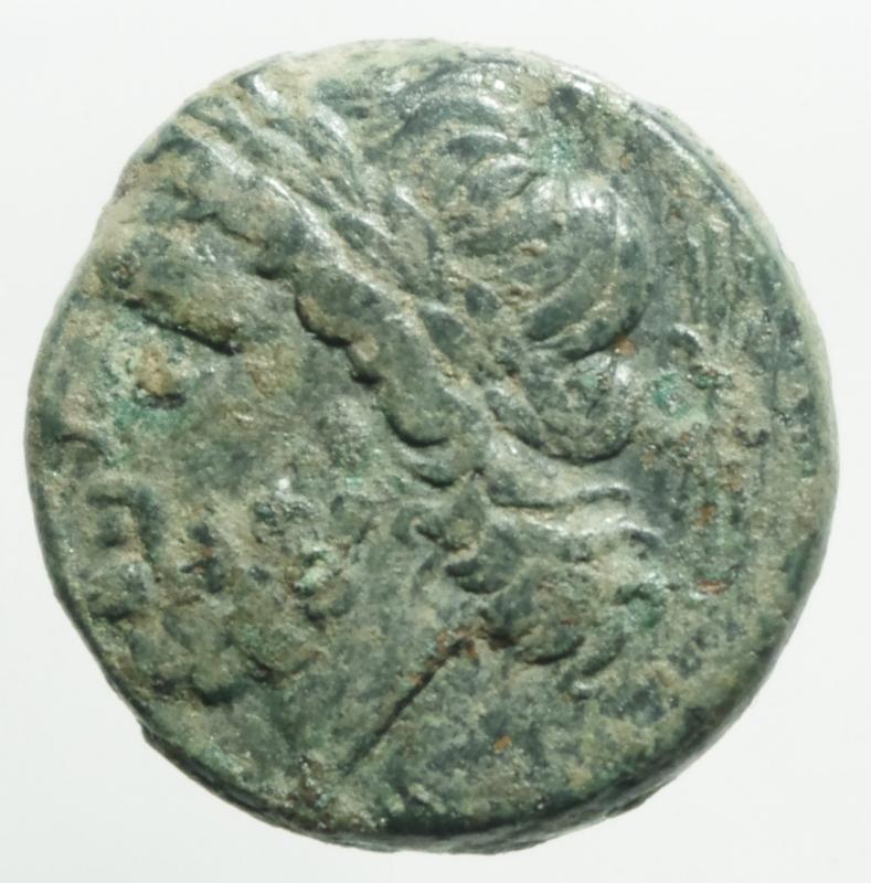 obverse: Mondo Greco .Apulia Arpi. Ca 325-250 a.C. AE 20,9 x 21,1 mm. D/ Testa di Zeus a sinistra. R/ Cinghiale a destra, sopra lancia. 7,40 gr. HN Italy 642. BB+.