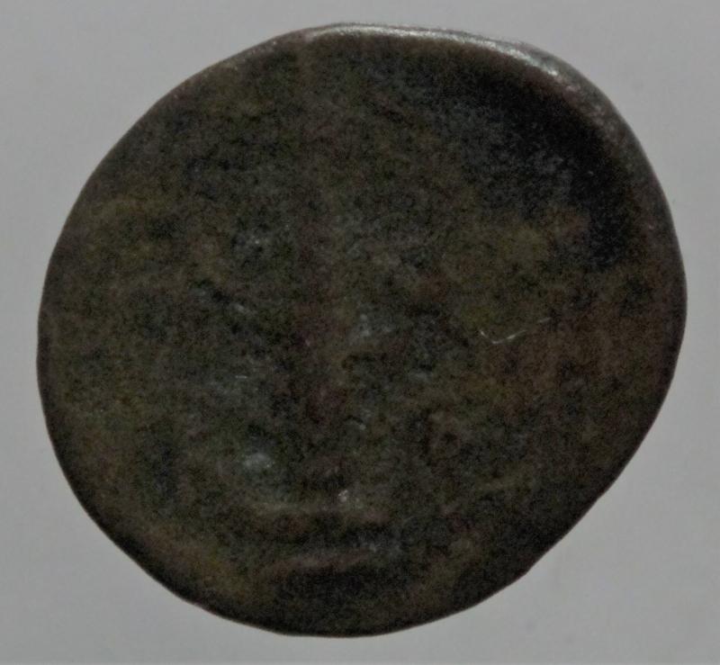 reverse: Mondo Greco. Ambracia.Epiro. AE. Dopo 148 a.C. D\ Testa laureata e velata di Dione/ AMBP, obelisco in corona.Peso 2,36 gr.Diametro 20 mm. SNG Copenhagen 23.qBB.R
