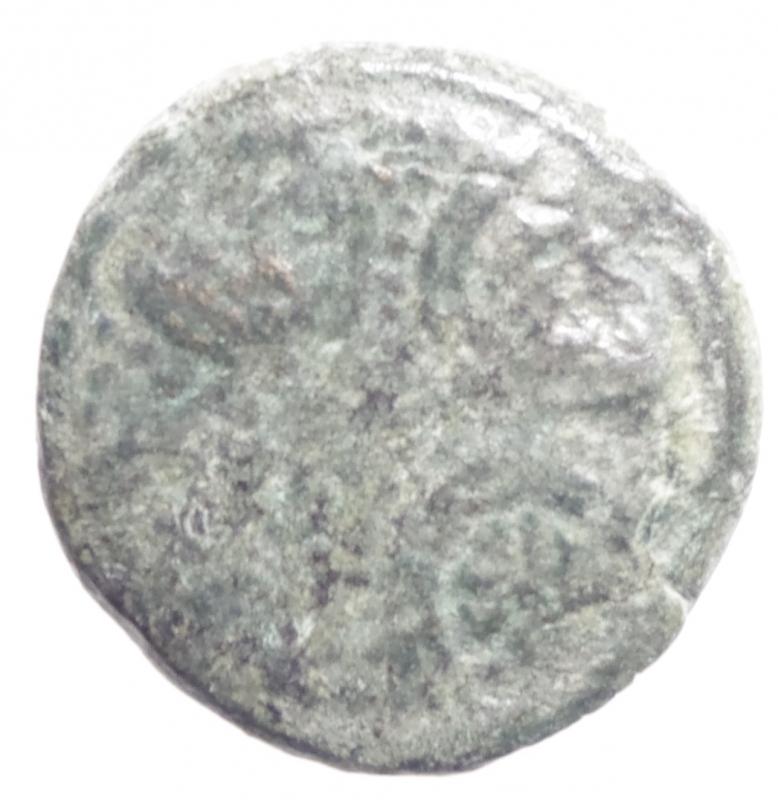 obverse: Mondo Greco.Lidia . Apollonis. Ae II-I sec.a.C D\ Scudo macedone ornato di stelle . R\ AO / NIEN. Clava .SNG Copenhagen 16. Diametro 21 mm.BB+.R