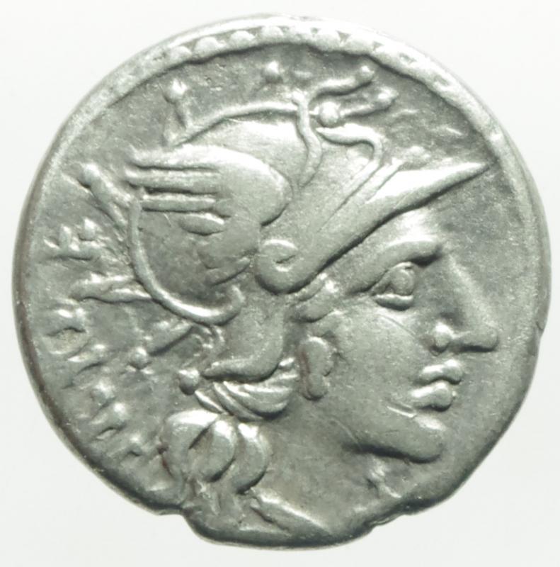 obverse: Repubblica Romana. Gens Curiatia. Caius Curiatius Trigeminus. 142 a.C. Denario. D/ Testa elmata di Roma verso destra, davanti valore X, dietro TRIGE. R/ Giunone in quadriga verso destra, coronata da una vittoria. sotto CCVR, in esergo (ROMA). Cr. 223/1. Peso 3,78 gr. Diametro 18,50 mm. BB+\BB. NC. ex Aes Rude 1998 lotto 138