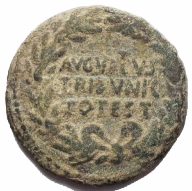 obverse: Impero Romano - Augustus (27 ac - 14 dc) C. Asinius Gallus. Dupondio Ae. 16 ac. d/ Legenda in tre linee entro corona r/ Grande SC entro legenda. RIC (2nd ed.) 371. g 9,66. mm 26,26. BB+. Intonso