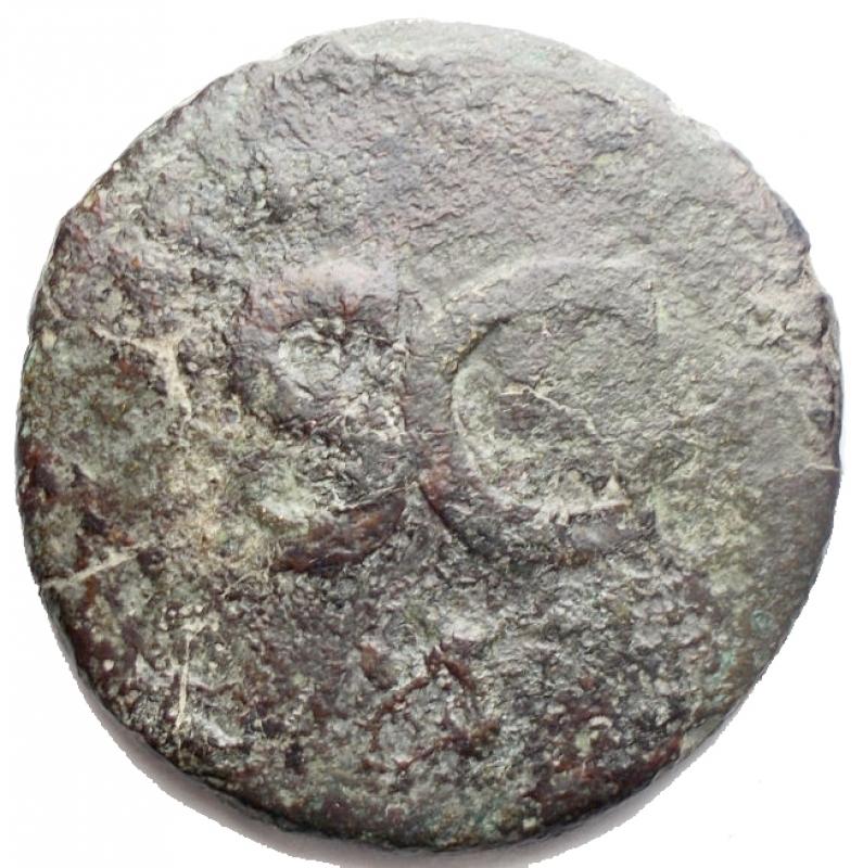 obverse: Impero Romano - Augusto (27 a.C-14 d.C). Sesterzio. Contromarche. g 21,04. mm 33,4. Ae. MB+. R