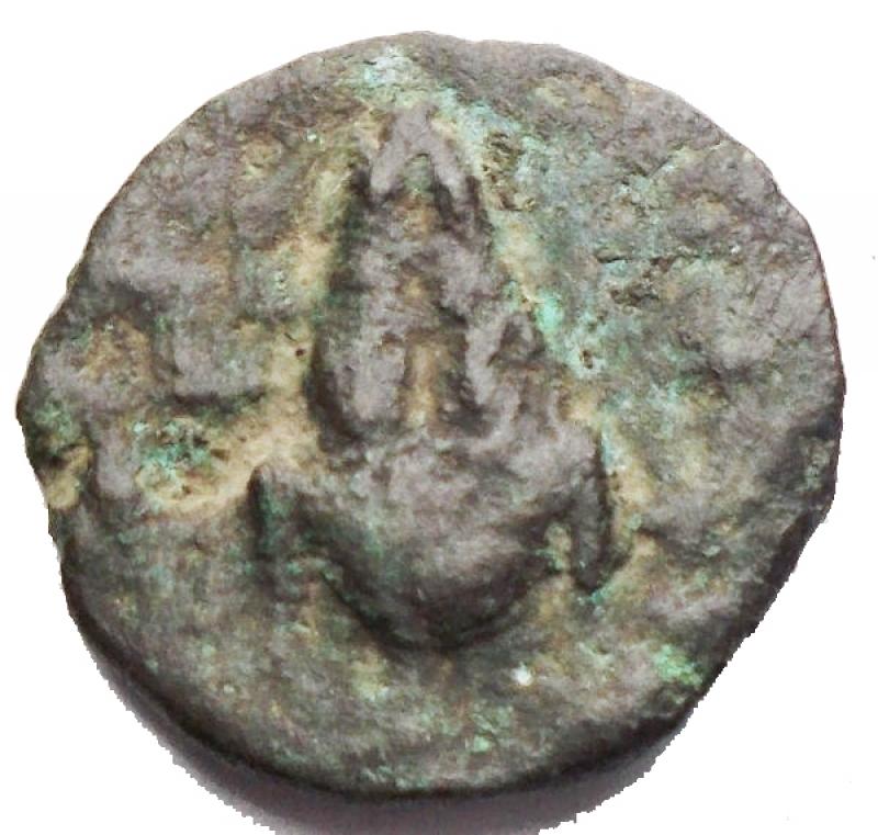 reverse: Mondo Greco - Apulia. Luceria. 211-200 a.C.Oncia. D/ Testa di Apollo verso destra. R/ LOVCERI Rana. SNG ANS 709. Peso 2,06 gr. Diametro 14,42 mm. MB-qBB