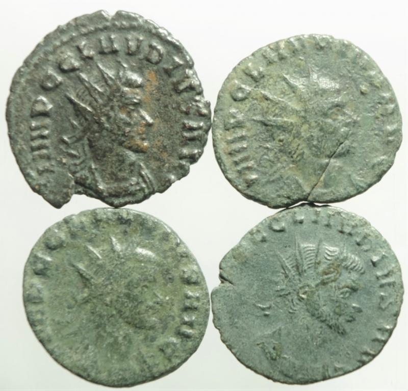 obverse: Impero Romano.Claudio II, lotto di 4 antoniniani, mediamente BB