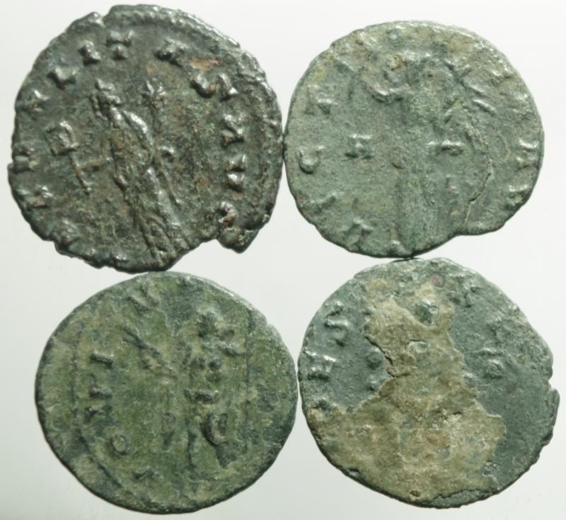 reverse: Impero Romano.Claudio II, lotto di 4 antoniniani, mediamente BB