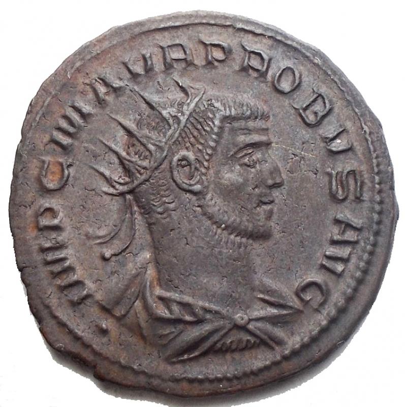 obverse: Impero Romano - Probo. 276-282 d.C. AE. Antoniniano. D/ IMP CM AVR PROBVS AVG, Busto radiato rivolto a destra. R/ CLEMENTIA TEMP, Probo in piedi a ds tiene scettro e riceve globo da Jupiter. Nel Campo B °. In esergo XXI. SPL+. Ottimamente centrato.§