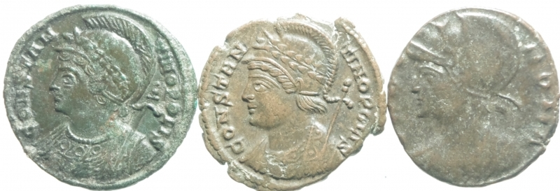 obverse: 3 monete costantiniane