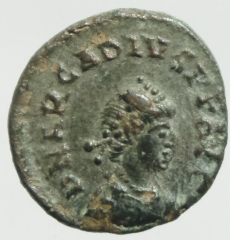 obverse: Impero Romano. Arcadio. 383-408 d.C. Ae IV. D/ DN ARCADIVS PF AVG Busto diademato verso destra. R/ SALVS REI PVBLICAE La vittoria avanza a sinistra.RIC.26c. Zecca di Cizico. Peso 1,27 gr. Diametro 13,41 mm. RIC.IX 86c. qSPL