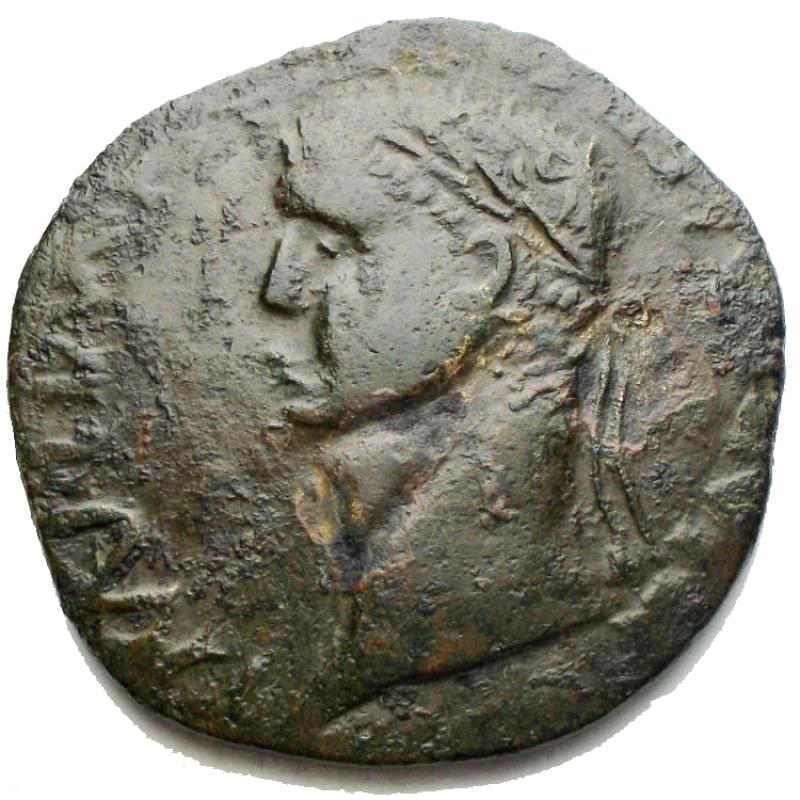 obverse: Monete Barbariche - Nerone Druso Sesterzio ibrido di conio posteriore. g 13,8. mm 31.8. Bell esemplare