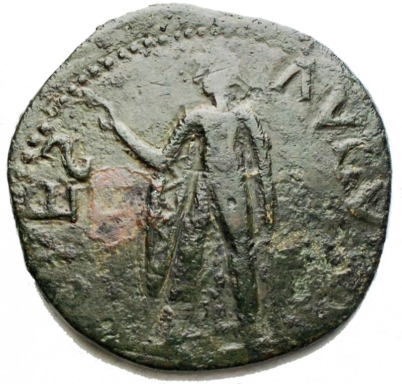 reverse: Monete Barbariche - Nerone Druso Sesterzio ibrido di conio posteriore. g 13,8. mm 31.8. Bell esemplare