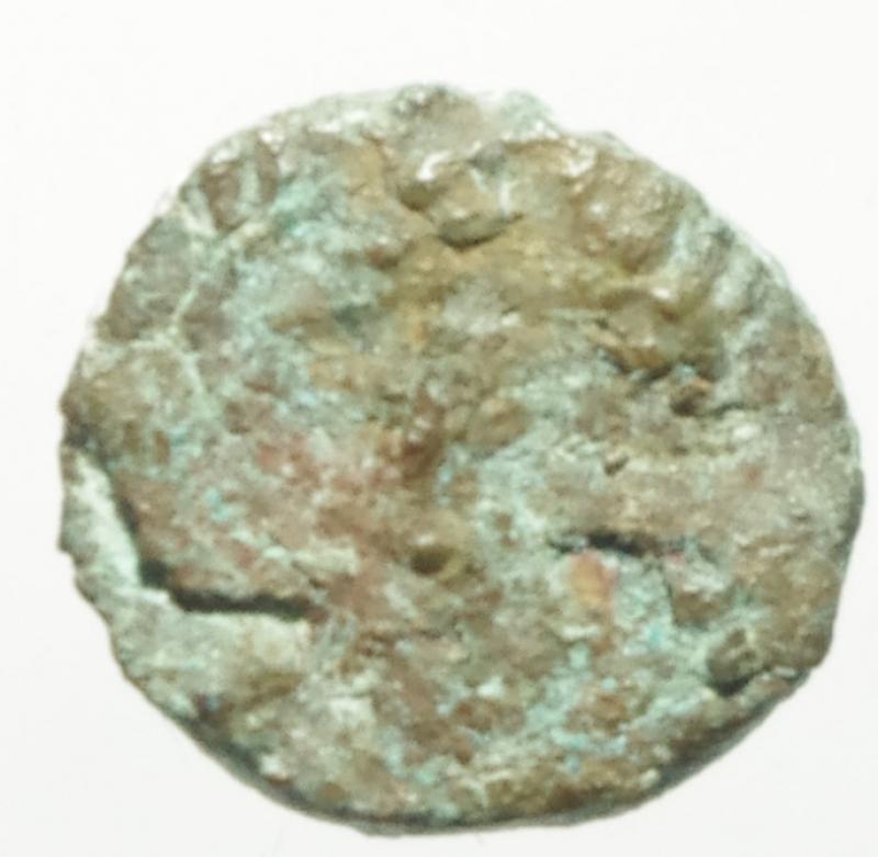 obverse: Monete Barbariche. I Vandali in nord Africa. Guntamundo. 484-496 d.C. Nummus imitativo. AE. D/ Pseudolegenda. Busto a destra. R/ Stella a otto raggi entro corona d alloro. Cfr. M. Ladich, Cr.Num. 17, p.13, n.7. Cfr. BMC p.38,165. Cfr. I. Vecchi, NVMMORVM AVCTIONES, 1145 (Geilamiro). Peso gr. 0,60. Diametro mm. 9.00. qBB. RR